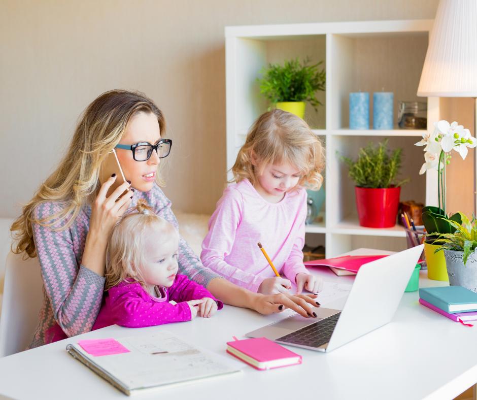 Teletravail et garde d'enfants